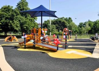 Riccione. Al Parco della Resistenza arriva il primo parco giochi inclusivo per tutti i bambini compresi i diversamente abili.