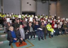 Ravenna. Il corso di protezione civile dell'associazione Mistral si è concluso con la festa dei nuovi 68 diplomati.
