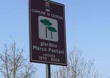 Cesena. Inaugurato in zona ippodromo il giardino pubblico dedicato al 'Pirata' Marco Pantani.