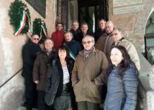 Ravenna. Celebrato il 143° anniversario della morte di Giuseppe Mazzini con la deposizione di ghirlande di alloro.