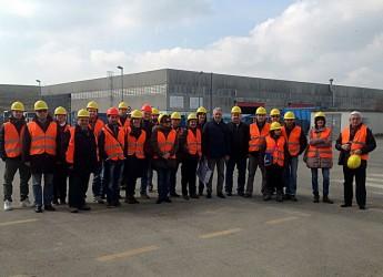 Lugo. Visita al comparto ambientale di Herambiente a Voltana. L'amministrazione fa il punto su raccolta differenziata e educazione al riciclo.