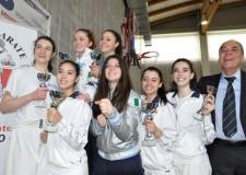 Riccione. Karate. Pioggia di medaglie ai regionali di Morciano. Le giovani Olivi, Migani, Franchini e Marisi convocate per il prossimo seminario nazionale giovanile.