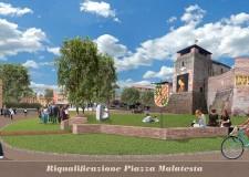 Rimini. Ecco come sarà la centrale Piazza Malatesta dopo l'intervento di riqualificazione che cambierà il volto al centro cittadino.