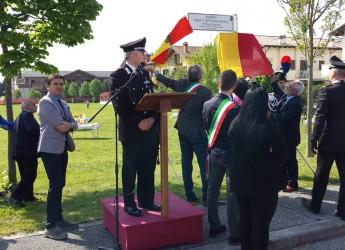 Ravenna. Inaugurato a Savio il toponimo 'Giardino Cinelli, Pascucci, Piccioni' in ricordo di tre giovani carabinieri morti nel 1998.