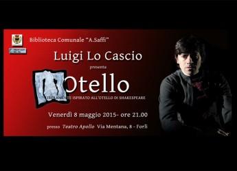 Forlì. Luigi Lo Cascio porta al Teatro Apollo i monologhi tratti dalla sua opera 'Otello', liberamente ispirata a Shakespeare.