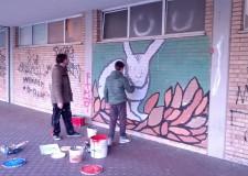 Ravenna. Quattordici murales realizzati dagli studenti della Montanari per un 'tocco d'arte in piazza Medaglie d'Oro'.