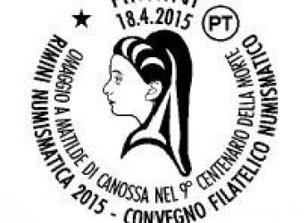 Rimini. Uno speciale annullo postale per il IX centenario della morte di Matilde di Canossa. La presentazione alla Fiera di Rimini.