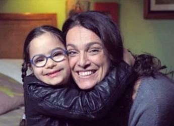 Lugo. L'esperienza di Martina Fuga come mamma di una bambina down in un incontro al salone Estense della Rocca.