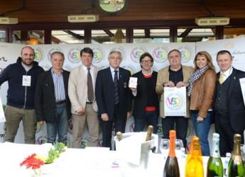 Riccione. Bottiglie nel ghiaccio, tutto è pronto in Viale Ceccarini per l'evento 'VSQ – Vini Spumanti di Qualità'.