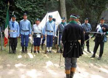 Ravenna. Il glorioso corpo militare dei Cacciatori delle Alpi in città per il sesto raduno nazionale in Piazza Garibaldi.