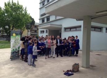 Cesena. Taglio del nastro al complesso di Villarco per il 26° impianto fotovoltaico nelle scuole del territorio cesenate.
