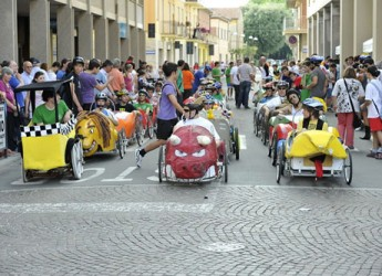 Faenza. Per la Giornata dell'Europa la tradizionale gara della vetture a pedali.