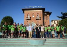 Cattolica. A Cattolica l'arrivo del 'cammino dell'eroe', 670 chilometri in trenta tappe che hanno unito l'Emilia Romagna.