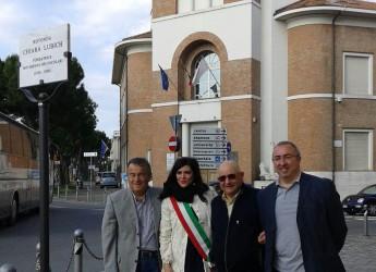 Rimini. La rotatoria del ponte dei Mille è stata intitolata a Chiara Lubich, fondatrice del Movimento dei focolari e cittadina onoraria di Rimini.
