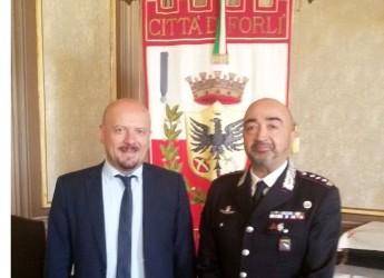 Forlì. Il comandante provinciale dell'Arma dei carabinieri ha fatto visita in comune dopo il fresco insediamento al comando di Forlì – Cesena.