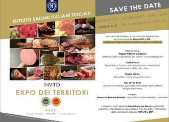 Milano. Expo dei territori. L'Istituto salumi italiani tutelati alla Triennale di Milano per parlare della storia delle eccellenze alimentari italiane.