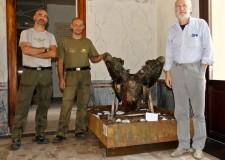 Lugo. Al museo 'Francesco Baracca' è giunto il motore dell'aereo guidato dallo stesso Baracca quando fu abbattuto il 19 giugno 1918.