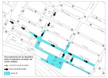 Cotignola. Cambia la viabilità cittadina in via Cairoli e Corso Sforza. Interventi nei sensi di marcia, attenzione alla segnaletica.