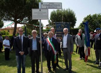 Ravenna. A San Romualdo è stato inaugurato il giardino dedicato a 'Combattenti e reduci'.