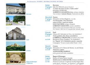 Romagna. Faenza. Incontro al Monastero di San Maglorio dedicato a Romualdo e Pier Damiani con Ugo Facchini e Lorenzo Saraceno.