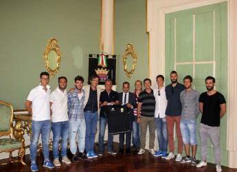 Cesena. Festa a Palazzo Albornoz per la Virtus 2010 di calcio a cinque che è stata ricevuta dal sindaco Lucchi dopo la promozione in C2.