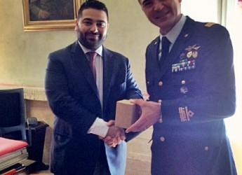Lugo. Il sindaco Ranalli ha ricevuto in Rocca il generale dell'Aeronautica Militare Francesco Saverio Agresti.