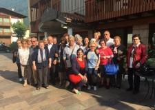 Riccione. Il sindaco Renata Tosi in Trentino per far visita ai nonni in vacanza.