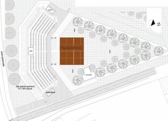 Riccione. L'anfiteatro ex fornace si rifà il look con i lavori alle gradonate che possono ospitare 564 posti.