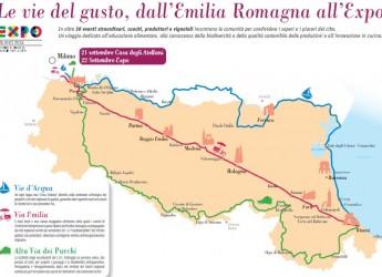 Emilia Romagna. Una cartoguida per la regione in viaggio verso Expo. Una road map del viaggio più gustoso dell'estate.