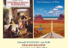 Cesena. Alla libreria Giunti al Punto lo scrittore Eraldo Baldini presenta le ultime due pubblicazioni.