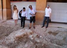 Lugo. Spuntano le vecchie mura durante i lavori di riqualificazione di piazza Mazzini. Le mura risalcolo al VX secolo, poi demolite nel 1570 circa.