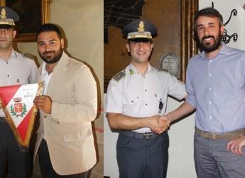 Bassa Romagna. Lugo. Cambio al vertice della Guardia di Finanza. Il saluto al tenente Pio Giuseppe Stola.