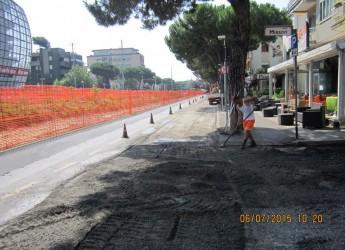 Riccione. Nuovo asfalto e messa in sicurezza di via dei Mille, partiti i lavori nel tratto compreso tra viale Bassini e viale Verità.