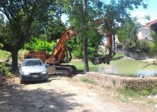 Savignano sul Rubicone. Iniziati i lavori di riqualificazione del tratto del fiume Rubicne compreso tra l'anello di Cesare e il ponte romano.