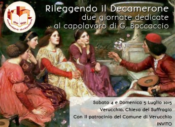 Verucchio. L'associazione Rileggo e Rileggo propone 'Rileggendo il Decameron', due giornate dedicate al capolavoro di Boccaccio alla Chiesa del Suffragio.