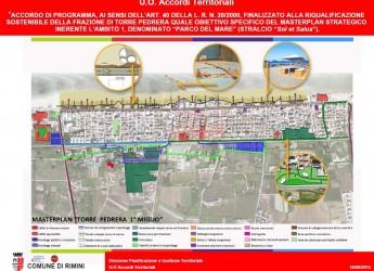 Rimini. Riqualificazione di Torre Pedrera, il consiglio comunale approva le linee di indirizzo per il primo stralcio del progetto 'Parco del mare'.
