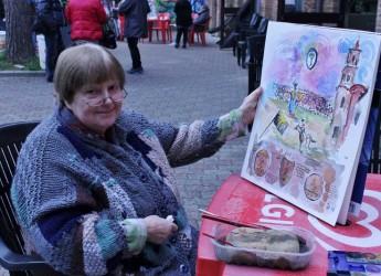 Faenza. La pittrice Helga Ortwig inaugura la propria mostra. Un evento promosso dall'associazione Acquerellisti Faentini.