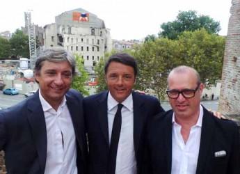 Rimini. Il presidente del consiglio Matteo Renzi incontra il sindaco Andrea Gnassi e il presidente Stefano Bonaccini.