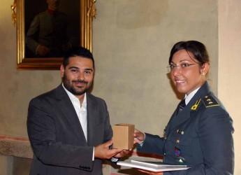 Lugo. Il sindaco Ranalli ha ricevuto in Rocca il tenente Alessia Iacomino della Guardia di Finanza.