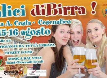 Cesenatico. Tre giorni in Piazza Costa in compagnia delle 'bionde', al via la prima edizione di 'Calici diBirra'.