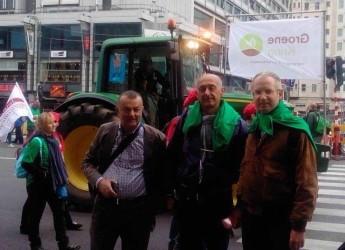 Ravenna. A Bruxelles anche gli agricoltori romagnoli di Legacoop Romagna per protestare contro l'embargo alla Russia.