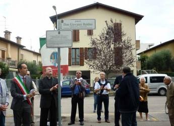 Ravenna. Inaugurato il parco don Giovanni Baldini nell'anniversario della sua nomina a parroco di San Vittore.