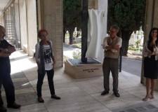 Rimini. Inaugurato al cimintero monumentale l'opera dedicata al fotografo riminese Marco Pesaresi.