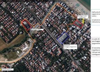 Riccione. In occasione delle Giornate della Polizia Locale una piantina dei parcheggi da utilizzare.