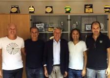 San Marino. Renato Arena, vicepresidente della pallavolo europea in visita sul Titano. Tema dell'incontro lo sviluppo in campo internazionale della disciplina.