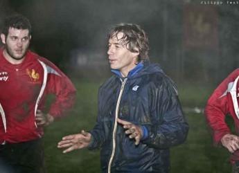 Cesena. Rugby. Diego Dominguez ospite allo stadio del rugby per una allenamento della Selezione Romagna under 18.