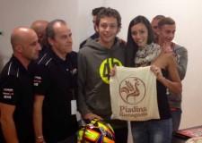 Rimini. La piadina romagnola Igp è scesa in pista alla Spurtleda58, ospite d'onore il pilota Valentino Rossi.