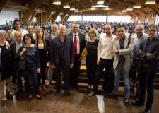 Rimini. San Patrignano. Il presidente delle Regione Stefano Bonaccini in visita con la giunta alla comunità.