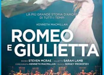Ravenna. Al CinemaCity lo proiezione in diretta da Londra dello spettacolo 'Romeo e Giulietta' di Kenneth MacMillan.