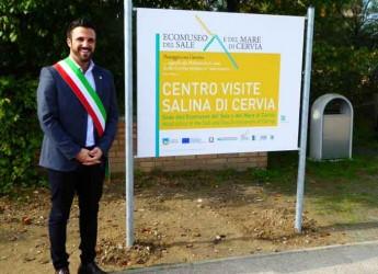 Cervia. Presentata la nuova cartellonistica e la prima guida dell'Ecomuseo del Sale e del Mare di Cervia.